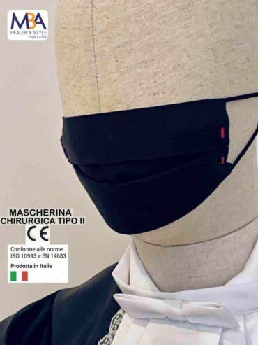 Mascherina chirurgica di Tipo II, Dispositivo Medico Classe 1, Marcatura  CE,  in cotone, lavabile e personalizzabile – Kit di n. 2 Mascherine
